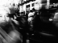 Almost ghost like looking street moment photographed by Alex Coghe
