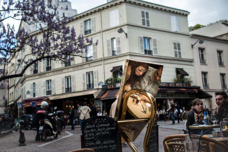 Photograph of a cafe in Paris taken by Dyanne Wilson