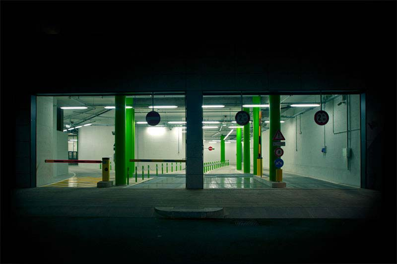 Luca Orsi and his image of a iluminated parking lot