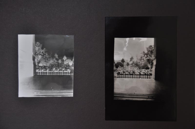 Pinhole photography image in black and white