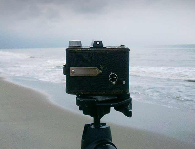 Gregor Servais is shooting his pinhole images with this AGFA Clack camera