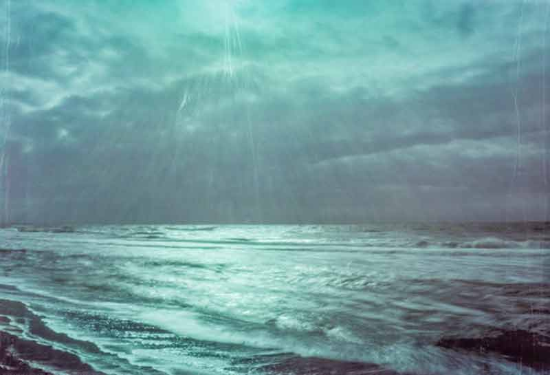The roaring sea captured with a pinhole camera by Gregor Servais