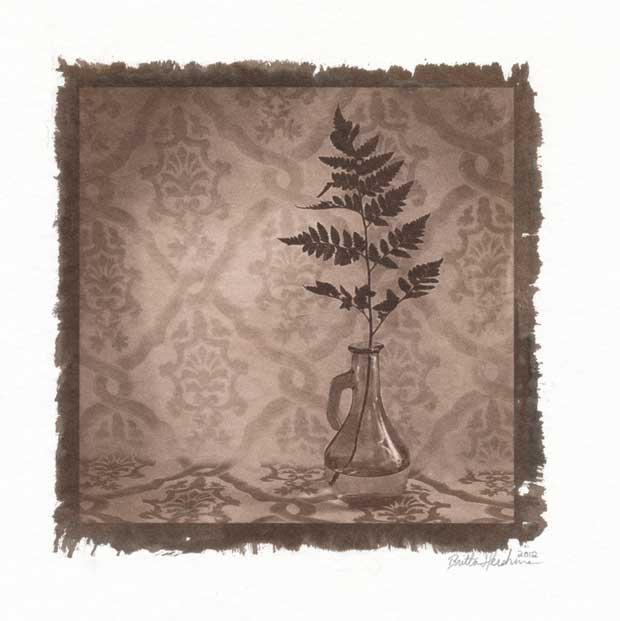 Britta Hershman works with cyanotype images
