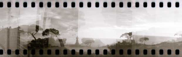 The image shows a panorama picture taken by Britta Hershman