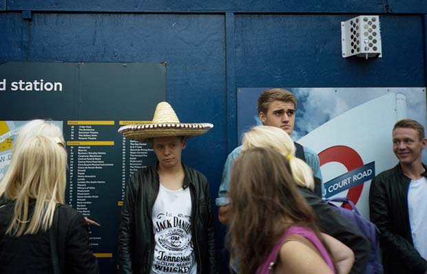 A young boy wearing a Mexican looking hat can be seen on this photograph from Marc Fairhurst