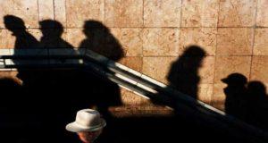 Shadows on a wall by Mikhail Palinchak