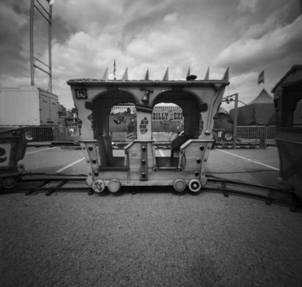 A pinhole photograph taken by Nancy Breslin at a church festival