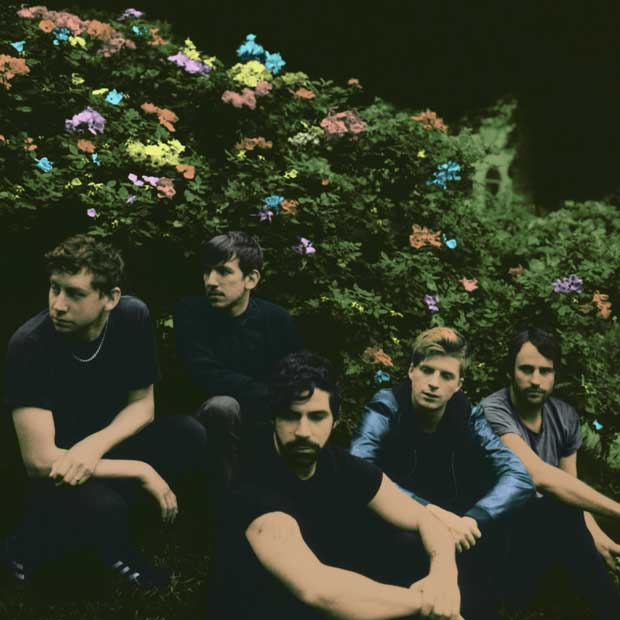 Image of a group of young guys called Foals taken by Neil Krug