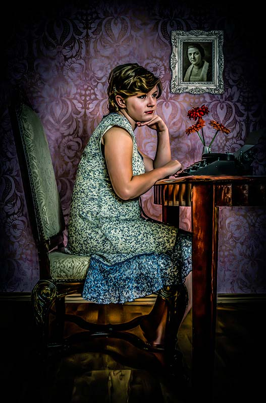 Her portrait photography is inspired by Gregory Crewdson says Crystal Davis photography