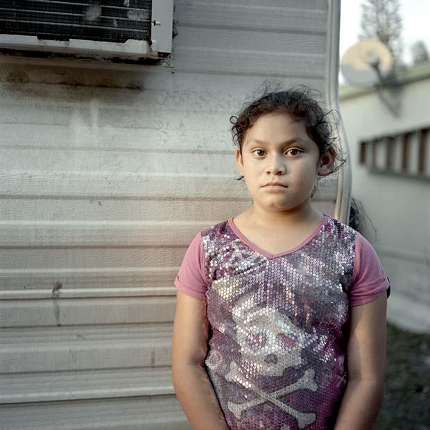 Image of a young hispanic girl living in the US taken by Karen Arango