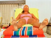 Image from the photography book Life's A Beach by British photographer Martin Parr