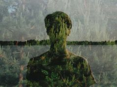 Man and nature in an image from Italian artist Polly Balitro