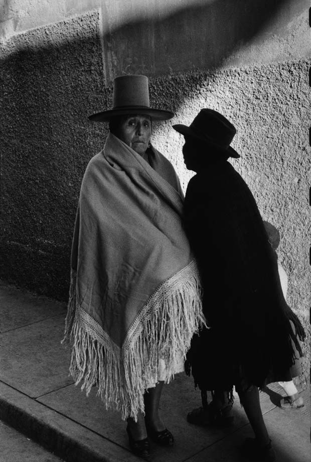 An image of a traditionally dressed campesina woman in Bolivia taken by Sergio Larrain