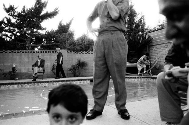 "Pool Party, North Hollywood, from the ""Traces of Identity"" series © Ara Oshagan"