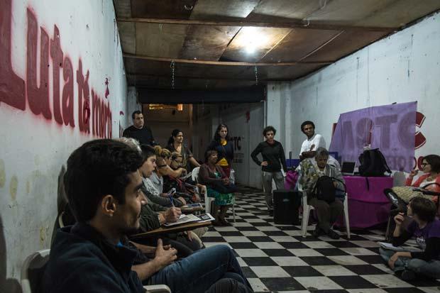 """A meeting of the """"Comitê Popular da Copa"""" in Sao Paulo."""