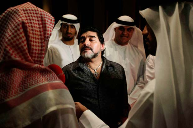 Image of Diego Maradona part of the series Girls Only from Karen Dias