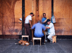 Image taken by Nikolay Mirchev of a group of elderly Cuban men playing domino